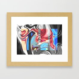 SNARL - BLACK Framed Art Print