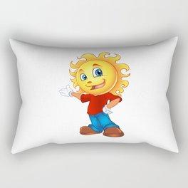Happy Sun Cartoon Mascot  Rectangular Pillow