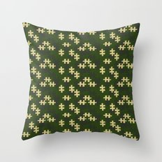 chameleon puzzle Throw Pillow
