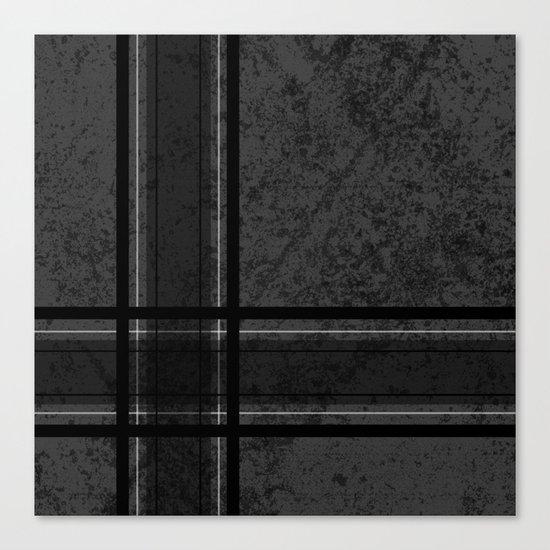 Grungy Grey Plaid Canvas Print