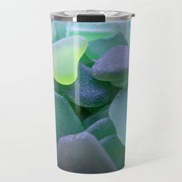 Beach Glass, dark green Travel Mug