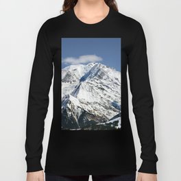 Mt. Blanc with clouds Long Sleeve T-shirt