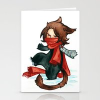bucky Stationery Cards featuring winter - bucky by cynamon