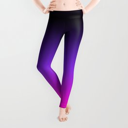 Black Purple and Neon Pink Ombre Leggings