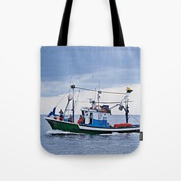 Traditional fishing boat off Tenerife in the Canary Islands Tote Bag