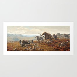 New York Pleistocene Tundra Art Print