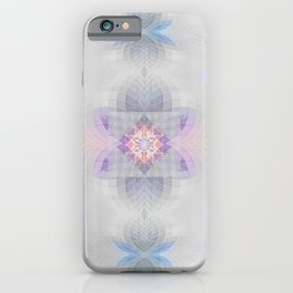 Pastel Kalidescope Sacred Geometry Quilt Print iPhone Case