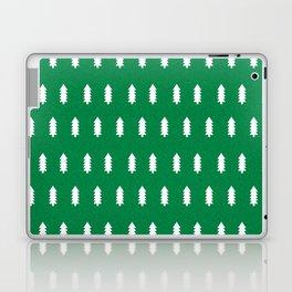 Christmas Trees minimal modern green and white holiday christmas decor Laptop & iPad Skin