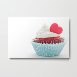 Heart cupcake for Valentine's Day Metal Print