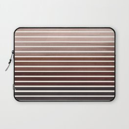 Watercolor Gouache Mid Century Modern Minimalist Colorful Raw Umber Stripes Laptop Sleeve