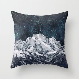 Constellations over the Mountain Throw Pillow