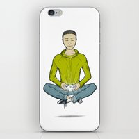 gamer iPhone & iPod Skins featuring Gamer by underscorevint