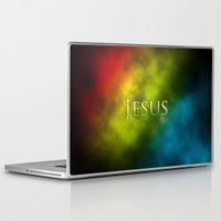 bible Laptop & iPad Skins featuring Follow Jesus (green) - Bible Lock Screens by Bible Lock Screens