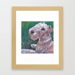 Lakeland Terrier dog art portrait from an original painting by L.A.Shepard Framed Art Print