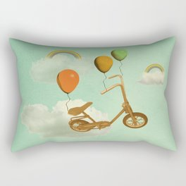in my world, we bike from cloud to cloud ! Rectangular Pillow