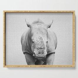 Rhino 2 - Black & White Serving Tray