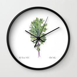 Red Russian Kale Wall Clock