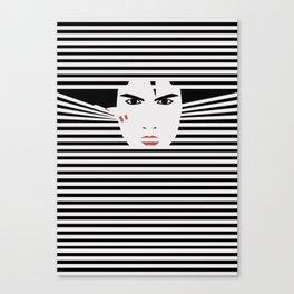 Peeking Man (Black) Canvas Print