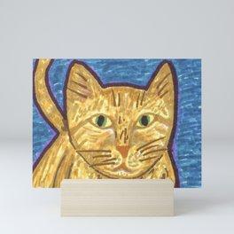 Orange Tabby Cat Mini Art Print