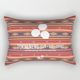 Tokneneng (hard boiled quail eggs) Rectangular Pillow