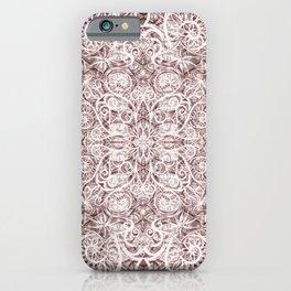 Mandala Lace on satin iPhone Case