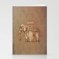 bastille Stationery Cards featuring Elephant Bastille by Bluepress