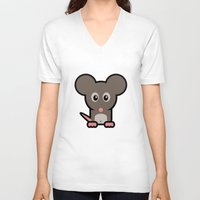 mouse V-neck T-shirts featuring Mouse by mrninja13
