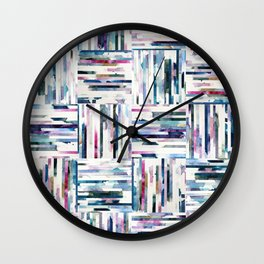 Quilted LINEA Abstract Paper Collage Wall Clock