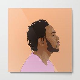 Kendrick Lamar, Salmon Metal Print