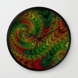 Swirls of Nature Wall Clock
