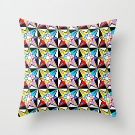 symetric patterns 81-mandala,geometric,rosace,harmony,star,symmetry Throw Pillow