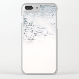 Sea foam - white and blue minimalistic photo of the ocean water Clear iPhone Case