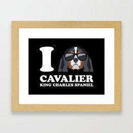 I Love Cavalier King Charles Spaniel modern v2 Framed Art Print