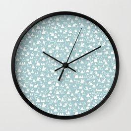 tiny mountains Wall Clock
