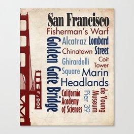 Travel - San Francisco Canvas Print