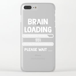 Problem Solving or Brainstorming Tshirt Design Brain loading Clear iPhone Case