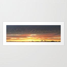 Stretching the NC Summer Sunset Art Print