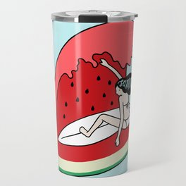 Watermelon Surf Travel Mug