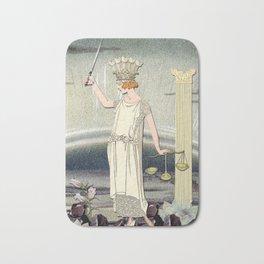 JUSTICE TAROT CARD Bath Mat