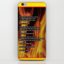 you would know why - poem iPhone Skin