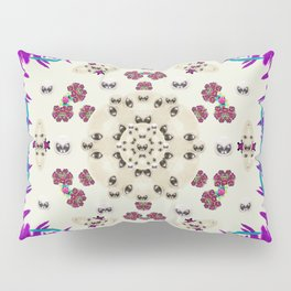 Eyes looking for the finest in life as calm love Pillow Sham