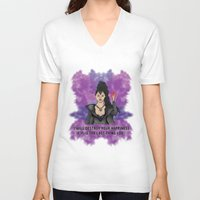 ouat V-neck T-shirts featuring OUAT - Something Evil This Way Comes by Daniel Bevis