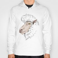 rockabilly Hoodies featuring Rockabilly Sheep by TurkeysDesign