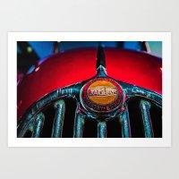 Jaguar Car Grill Art Print