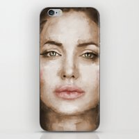 angelina jolie iPhone & iPod Skins featuring Jolie by Dnzsea