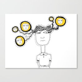 Too many people in one head Canvas Print
