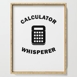 Calculator Whisperer Fun Gifts For Bookkeeper Math Freaks Serving Tray
