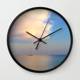 under the ischia sky Wall Clock