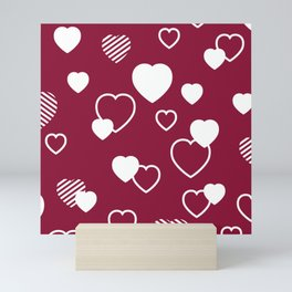 Romantic hearts Mini Art Print