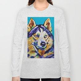 Pop Art Husky Long Sleeve T-shirt